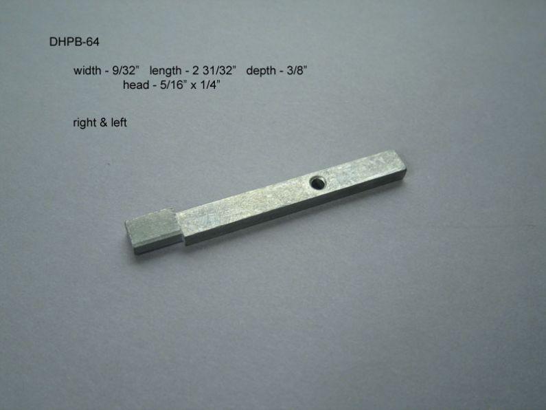 Double Hung - Pivot Bars & Pivot Bar Housings - Zero or One Hole - DHPB-64