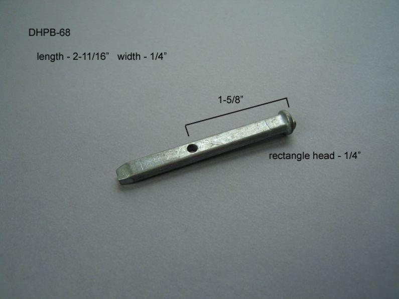 Double Hung - Pivot Bars & Pivot Bar Housings - Zero or One Hole - DHPB-68