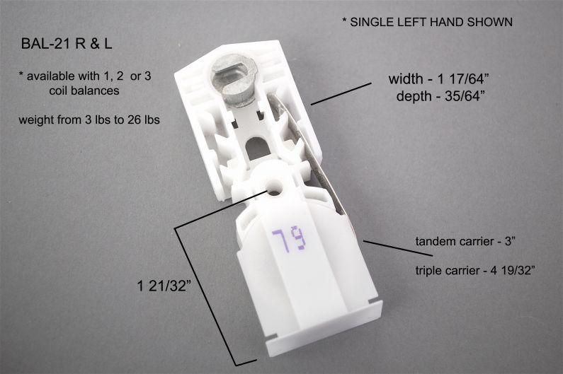 Bal 21 Sash Balance Types Aa Window Parts Amp Hardware