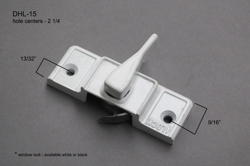 """Double Hung - Locks & Keepers - 2 1/4"""" hole center - DHL-15"""