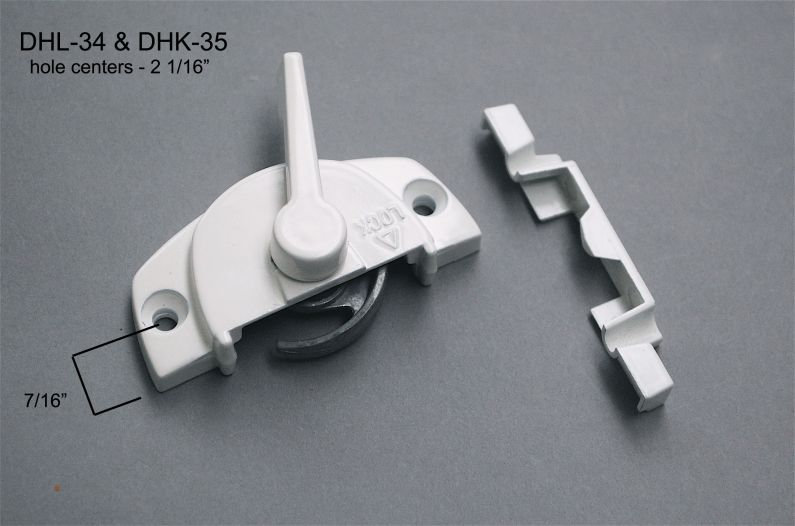 "Double Hung - Locks & Keepers - 2 1/16"" hole center - DHL-34 & DHK-35"