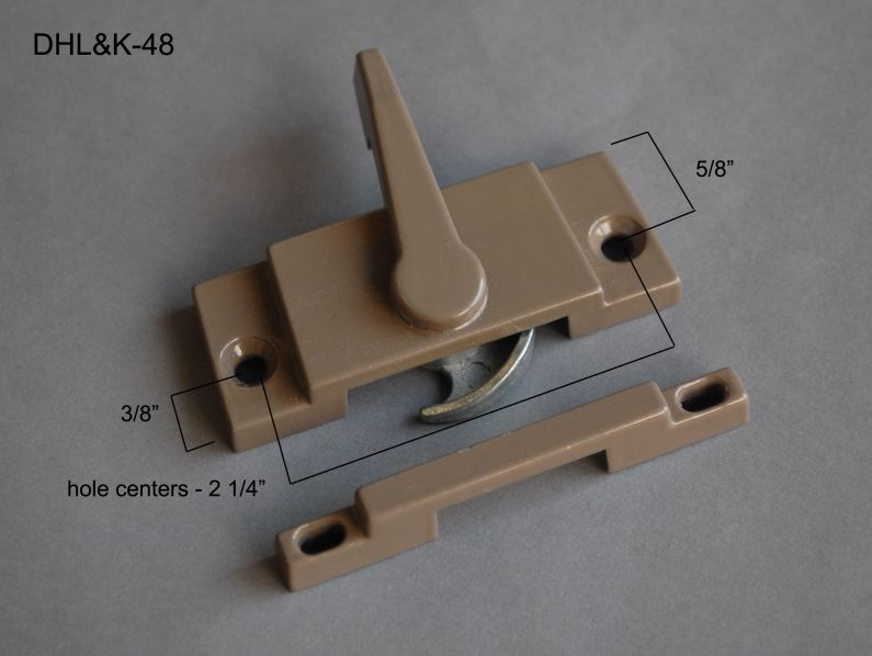 """Double Hung - Locks & Keepers - 2 1/4"""" hole center - DHL&K-48"""