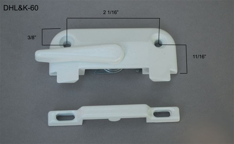 "Double Hung - Locks & Keepers - 2 1/16"" hole center - DHL&K-60"