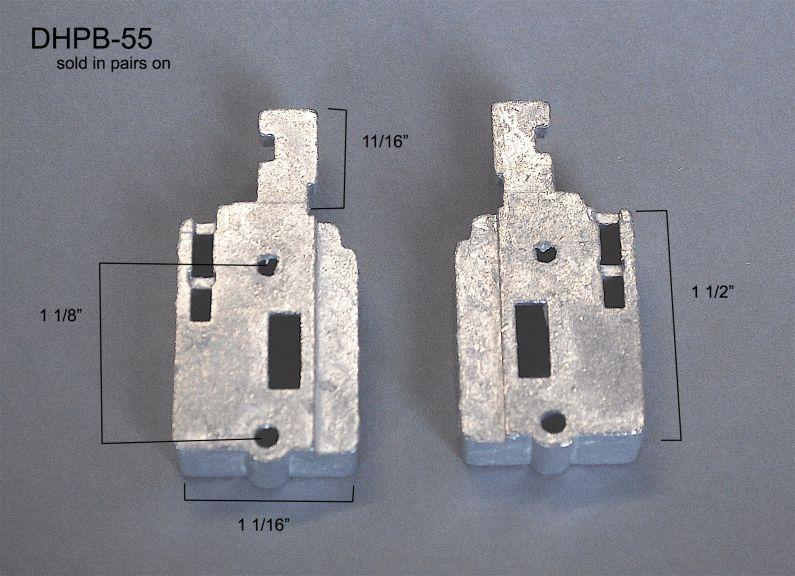 Double Hung - Pivot Bars & Pivot Bar Housings - Two Holes - DHPB-55