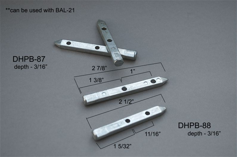 Double Hung - Pivot Bars & Pivot Bar Housings - Two Holes - DHPB-87 & 88