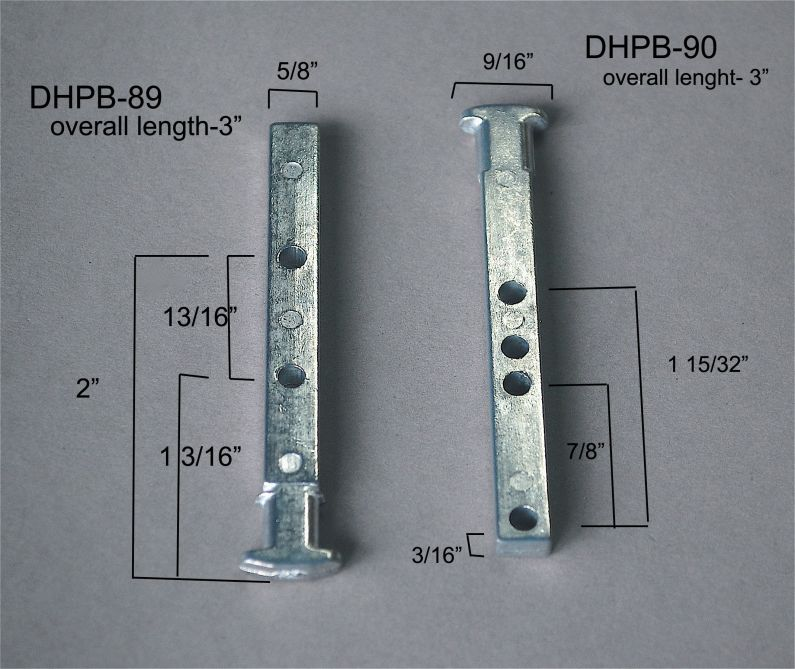 Double Hung - Pivot Bars & Pivot Bar Housings - Four or More Holes - DHPB-89&90