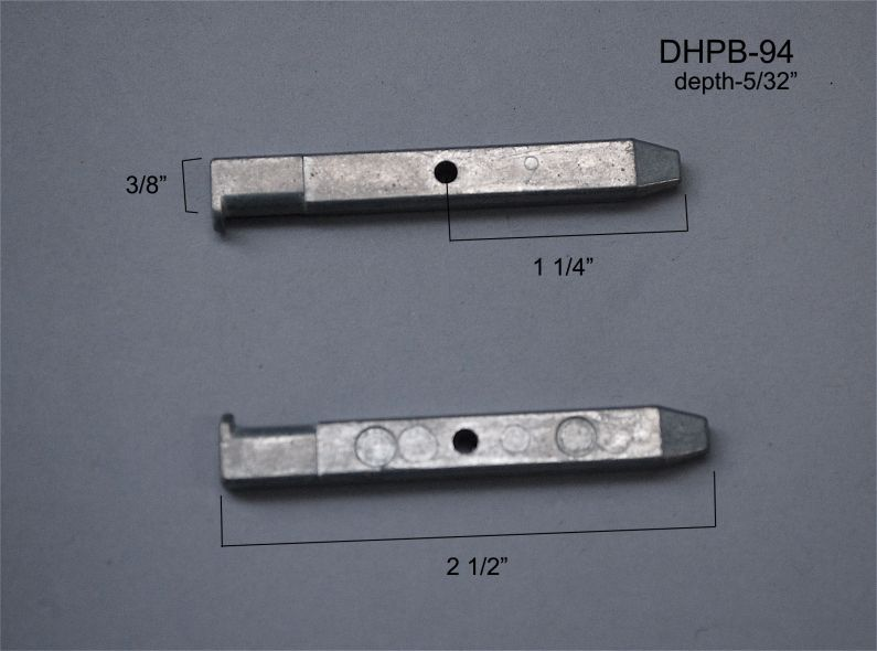 Double Hung - Pivot Bars & Pivot Bar Housings - Zero or One Hole - DHPB-94