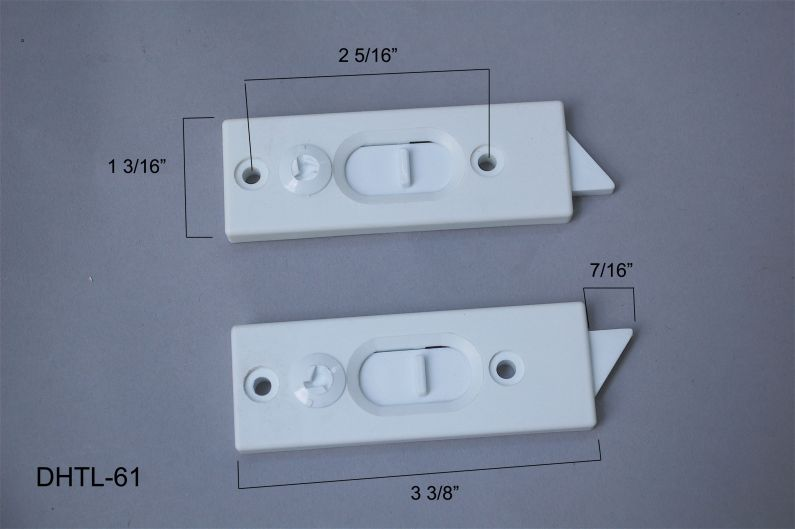 "Double Hung - Tilt Latches & Accessories - Top Mount Tilt Latches - 2 5/16"" hole centers - DHTL-61"