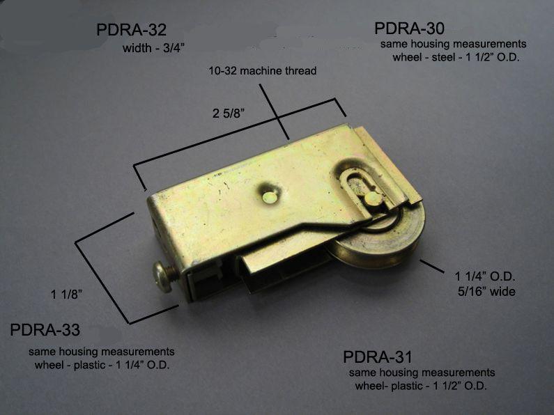 Patio Doors - Roller Assemblies - PDRA-30-31-32 & 33