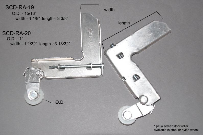 Screen Doors - Roller Assemblies - SCD-RA-19 & 20