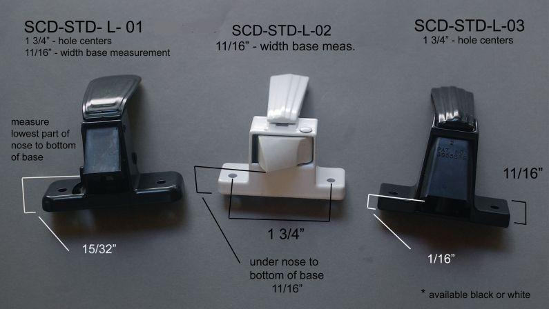 Screens & Storm Doors - Latches, Pulls, & Strikes - SCD & STD-L - 01 - 02 & 03