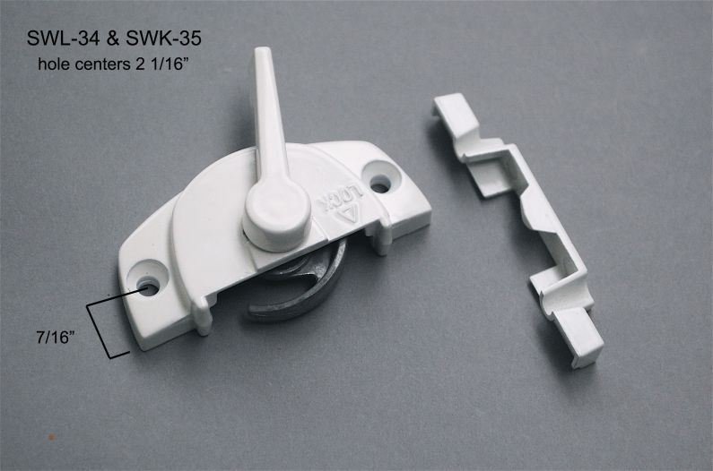 Sliding Window - Locks & Keepers - SWL-34 & SWK-35